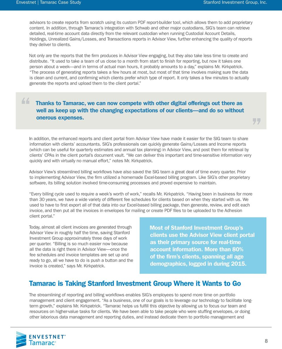 Case Study: Stanford Investment Group, Inc  - PDF