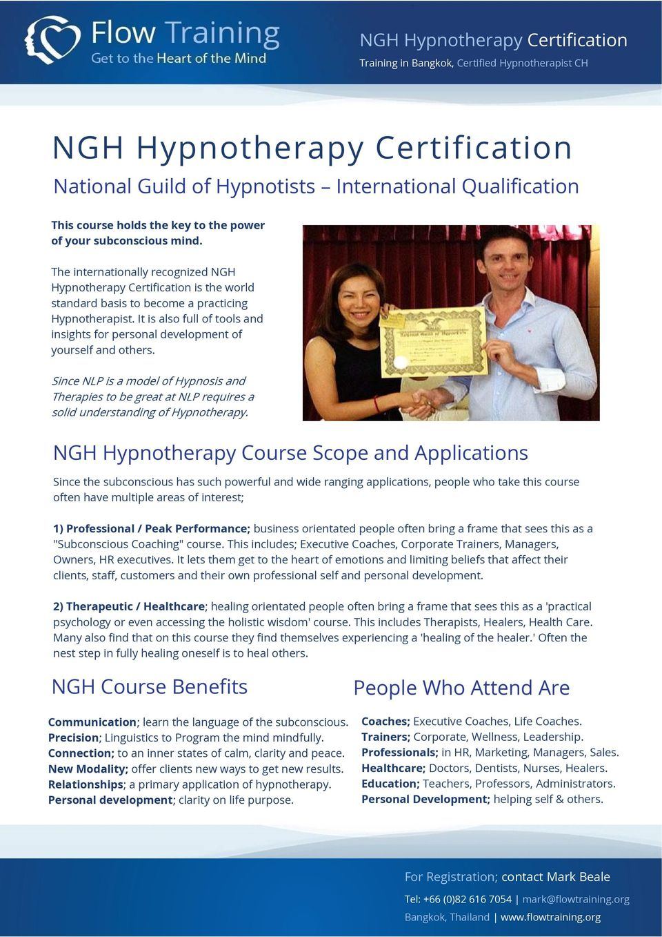 Ngh Hypnotherapy Certification Pdf