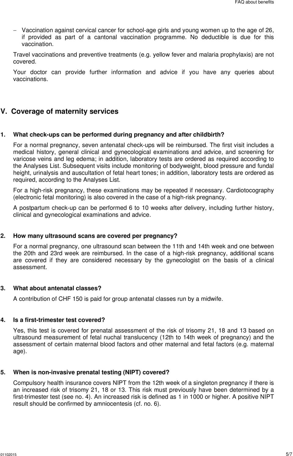 Frequently asked questions (FAQ) about benefits - PDF