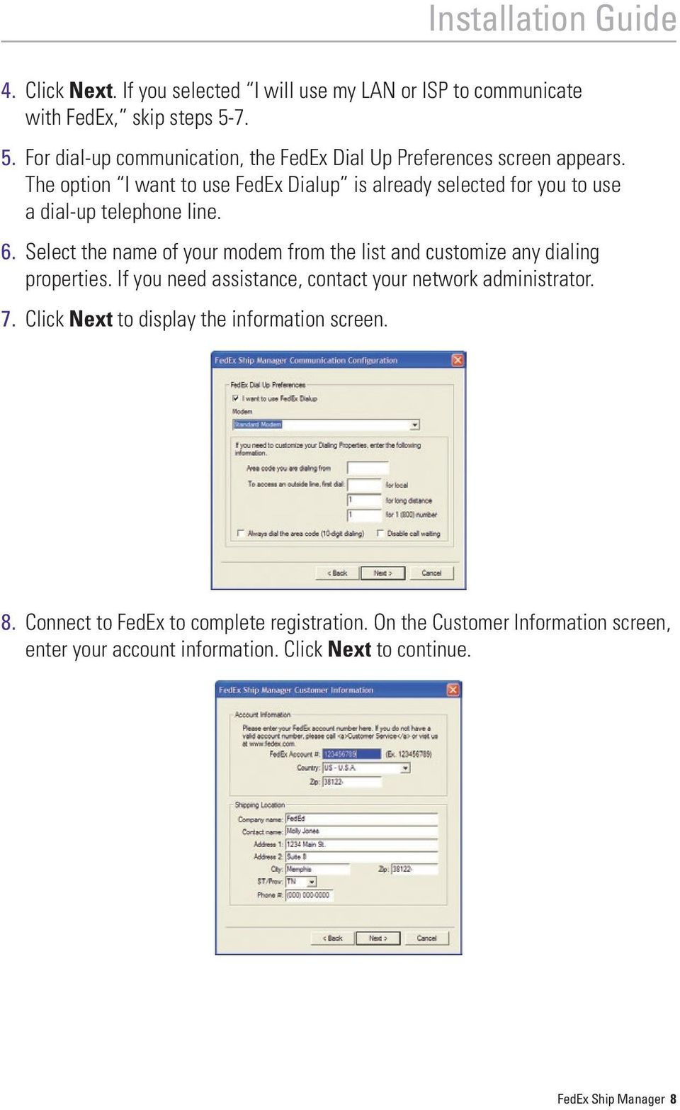 Installation Guide  Your FedEx Ship Manager system number