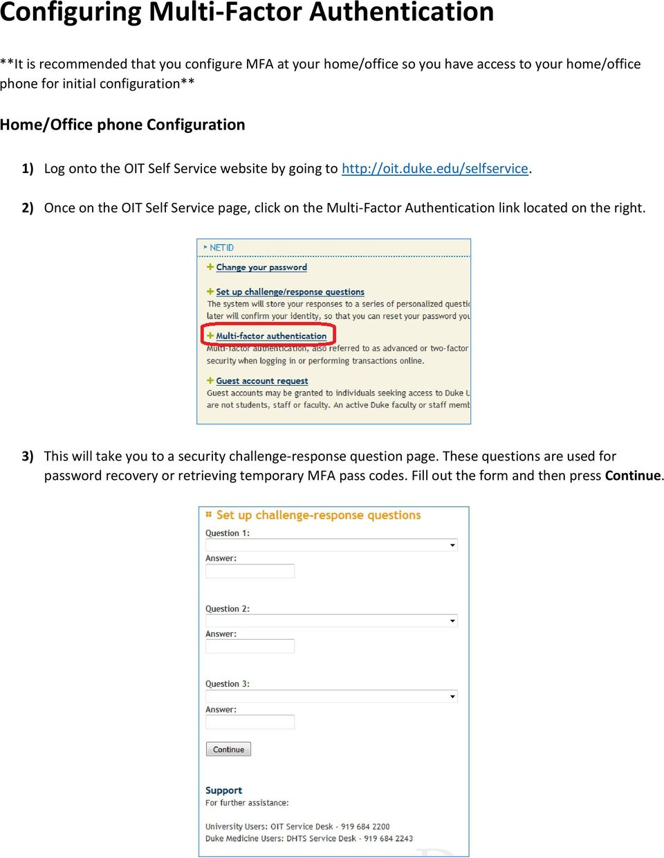 Multi-Factor Authentication for first time users - PDF