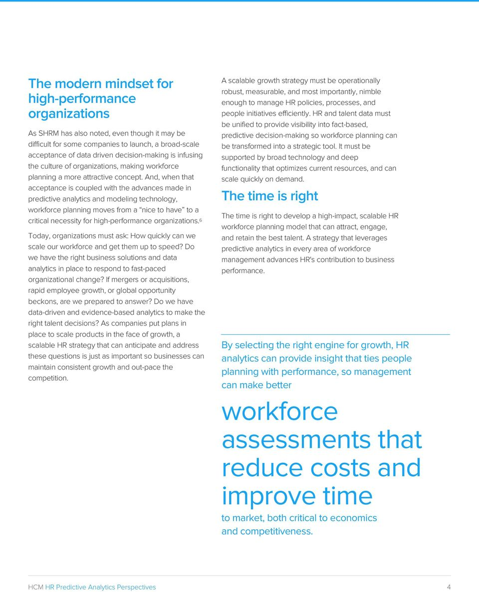 How predictive analytics help HR organizations scale - PDF