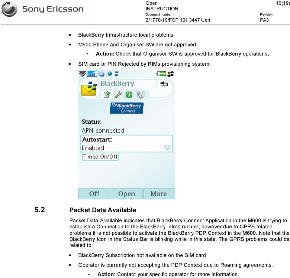 M600 BBC Client Installation overview for BlackBerry