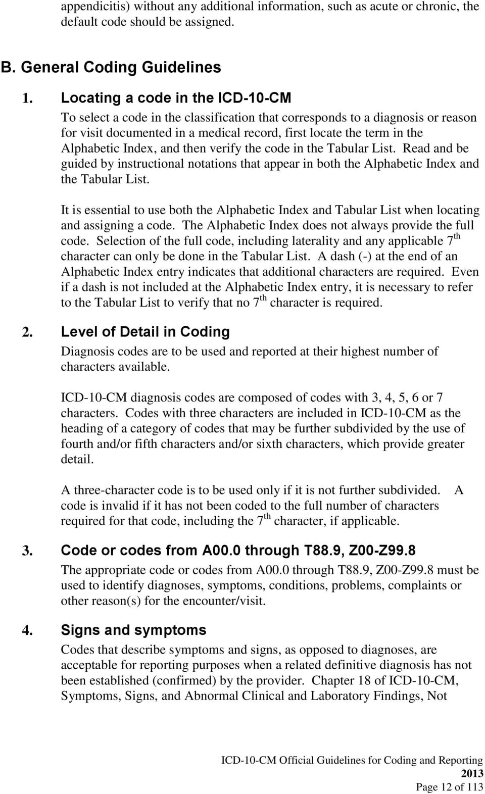 icd 10 cm official guidelines for coding and reporting 2013 page 2 rh docplayer net Sample Pics of ICD-10 Codes and ICD 9 Codes ICD 9 Search