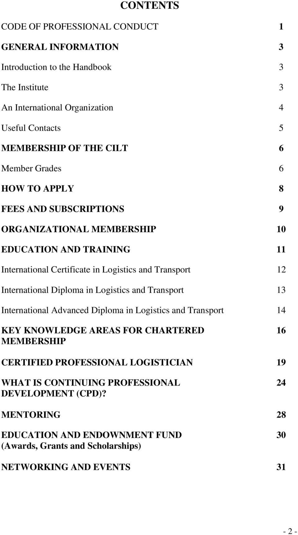 The Chartered Institute of Logistics & Transport - International - PDF