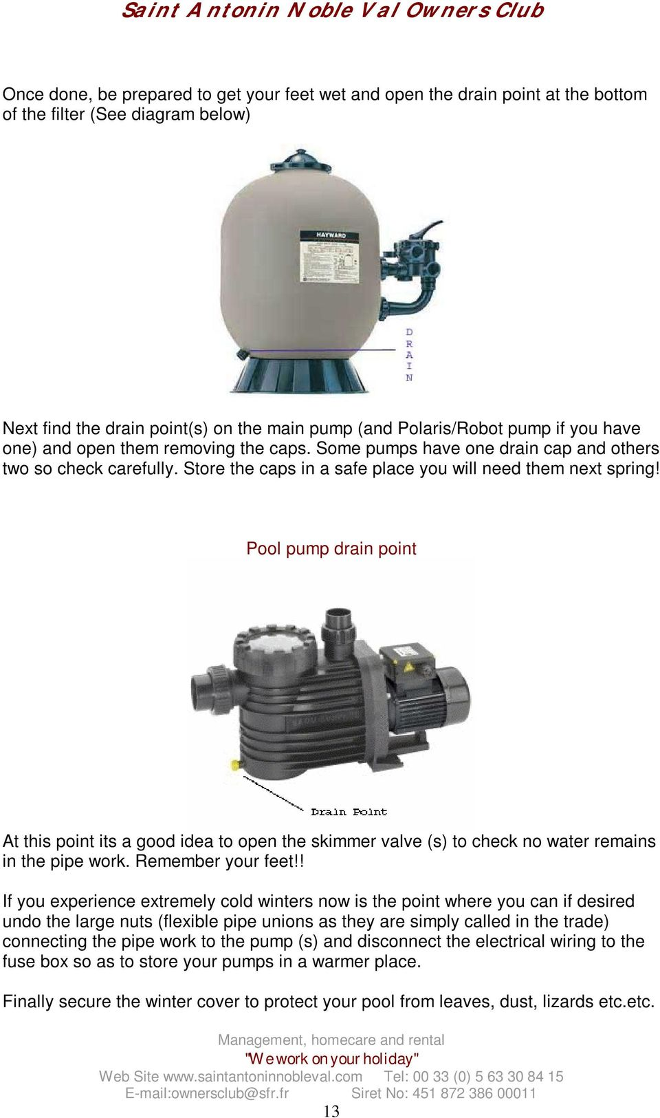A Guide To Looking After Your Swimming Pool Pdf Fuse Box In Pipe Pump Drain Point At This Its Good Idea Open The Skimmer Valve