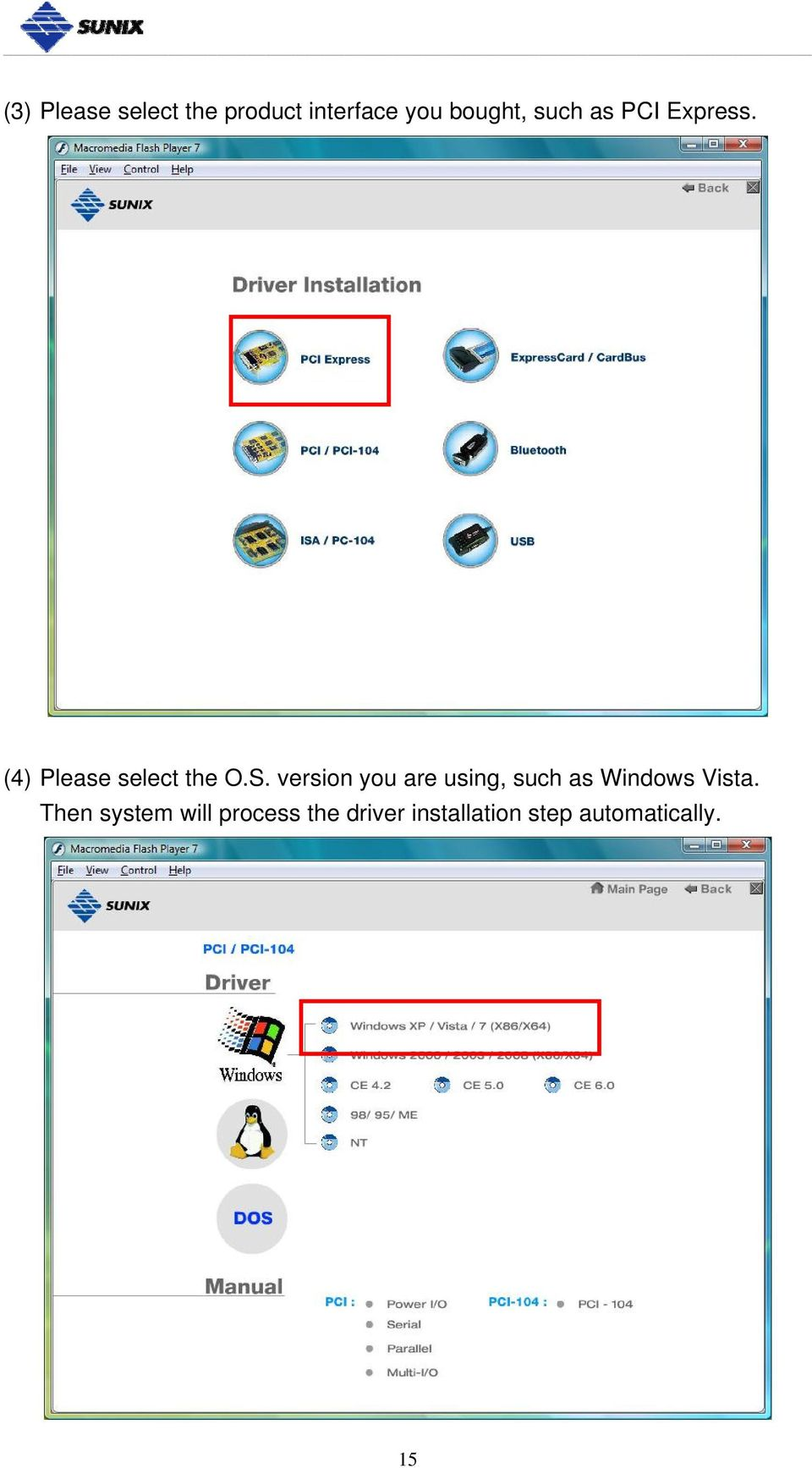 version you are using, such as Windows Vista.