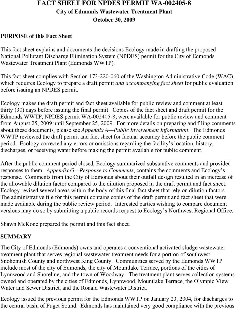 Fact sheet for npdes permit wa pdf this fact sheet complies with section 173 220 060 of the washington administrative code publicscrutiny Image collections