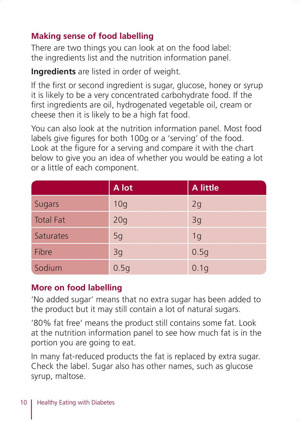If the first ingredients are oil, hydrogenated vegetable oil, cream or cheese then it is likely to be a high fat food. You can also look at the nutrition information panel.