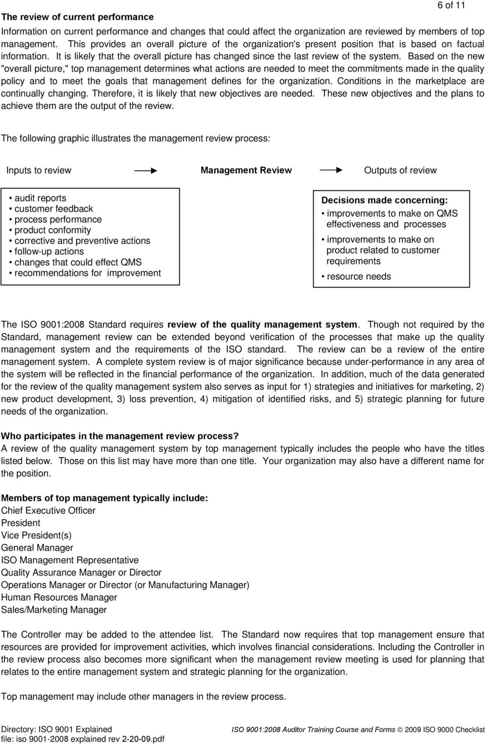 ISO 9001:2008 Requirements Explained - An Adobe PDF File for