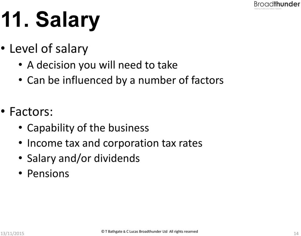 Capability of the business Income tax and corporation