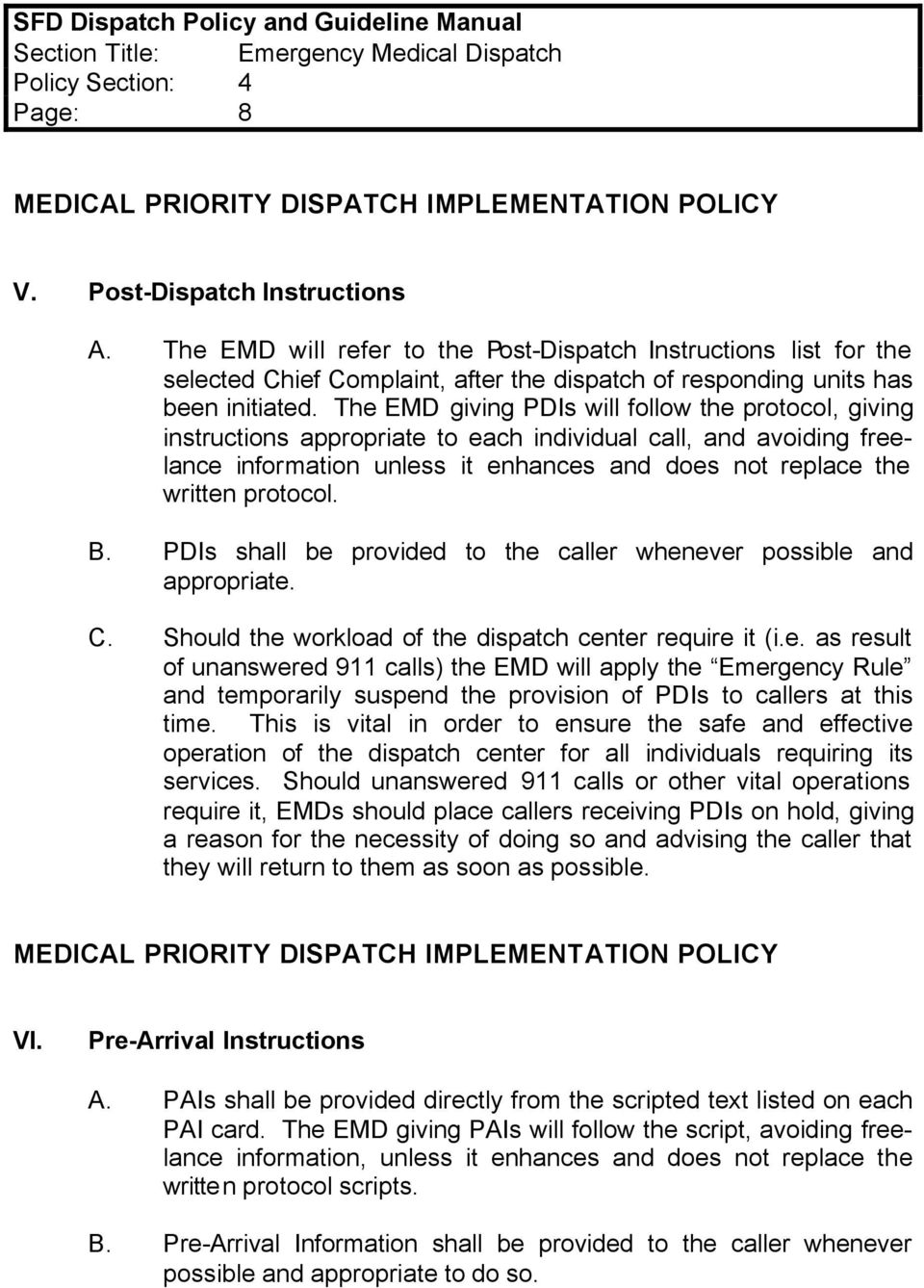 emergency medical dispatch certification guidelines emergency