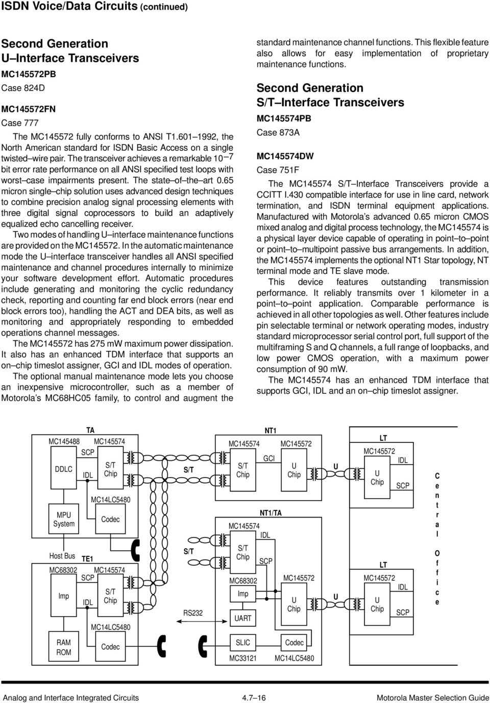Communication Circuits Pdf Analog Digital Integrated Question Bank And Interface The Transceiver Achieves A Remarkable 10 7 Bit Error Rate Performance On All Ansi Specified Test
