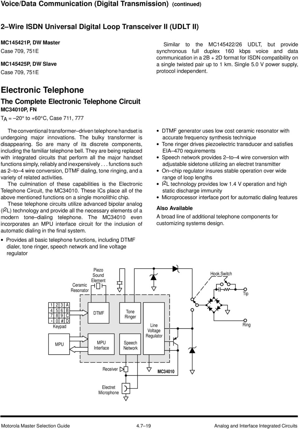 Communication Circuits Pdf Electret Microphone Wiring 0 V Power Supply Protocol Independent