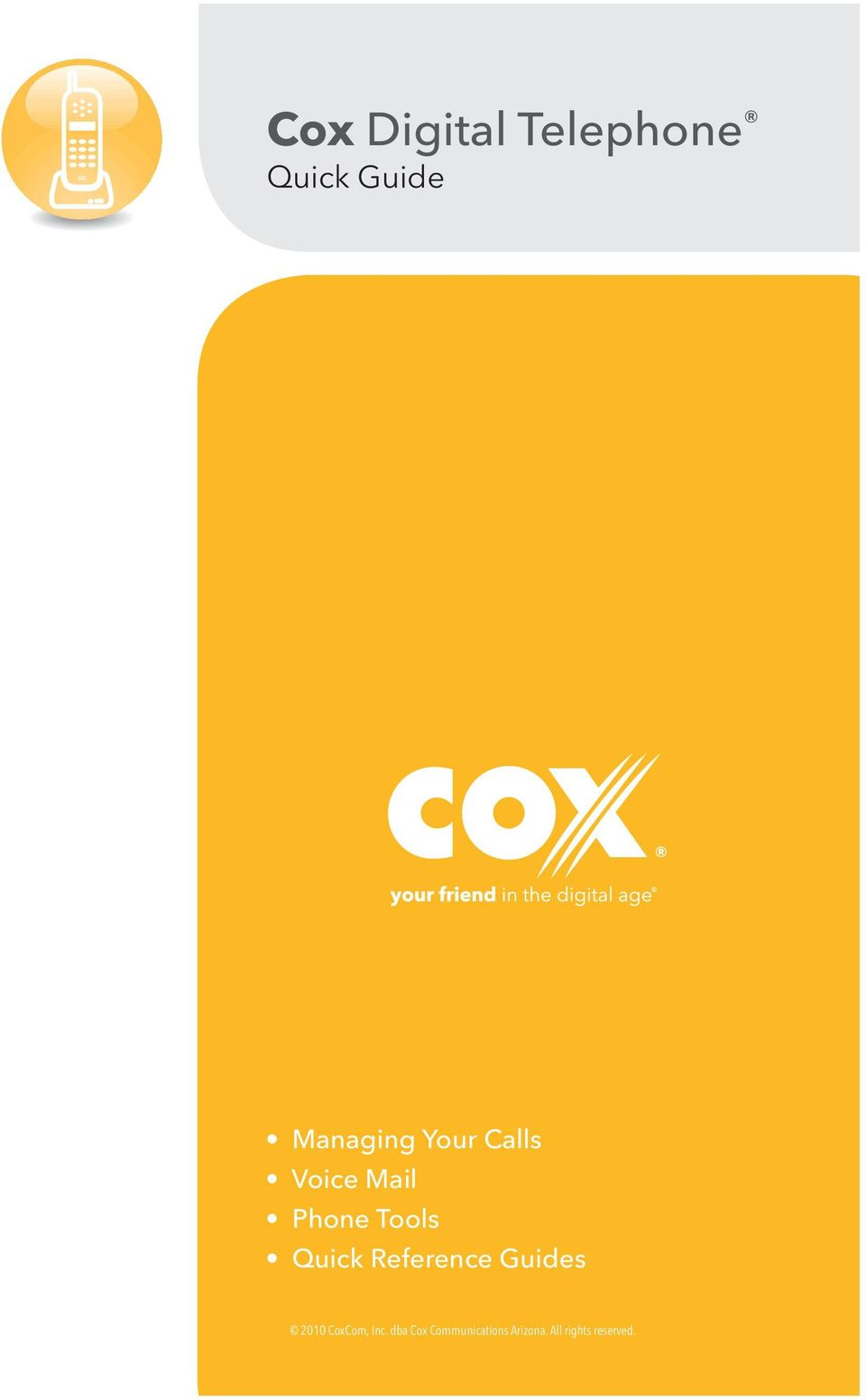 Reference Guides 2010 CoxCom, Inc.