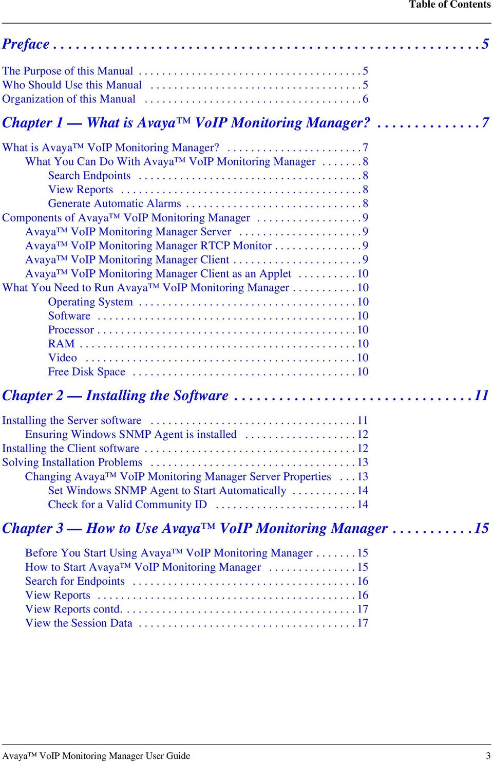 Avaya VoIP Monitoring Manager User Guide - PDF