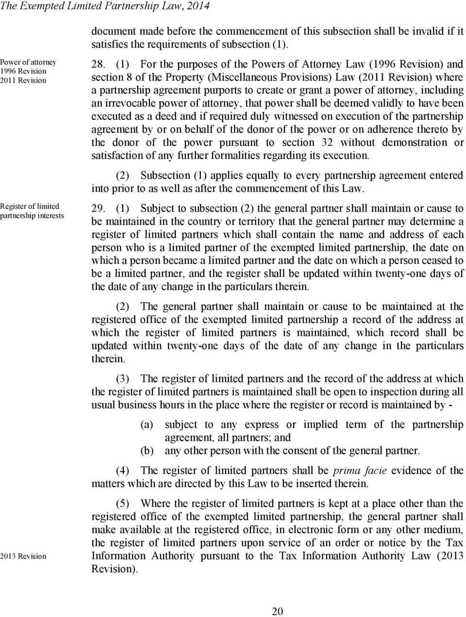 The Exempted Limited Partnership Law Pdf