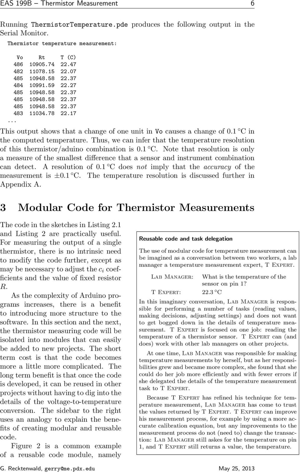 Temperature Measurement With A Thermistor And An Arduino Pdf Circuit For Measuring Using 1 C In The Computed Thus We Can Infer That Resolution 7 Eas 199b