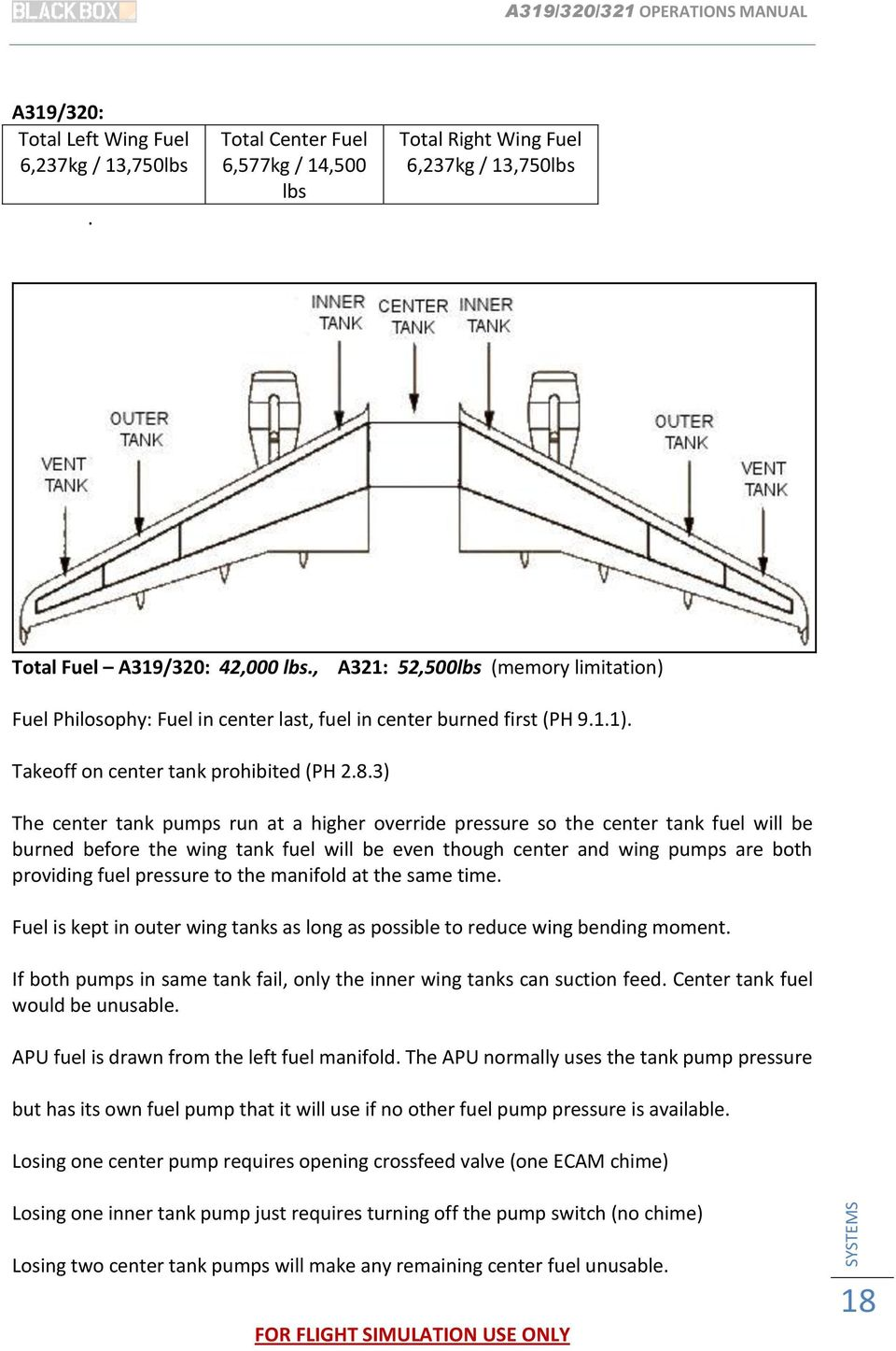 Airbus 319 320 321 Operations Manual Pdf Wiring Diagram 3 The Center Tank Pumps Run At A Higher Override Pressure So