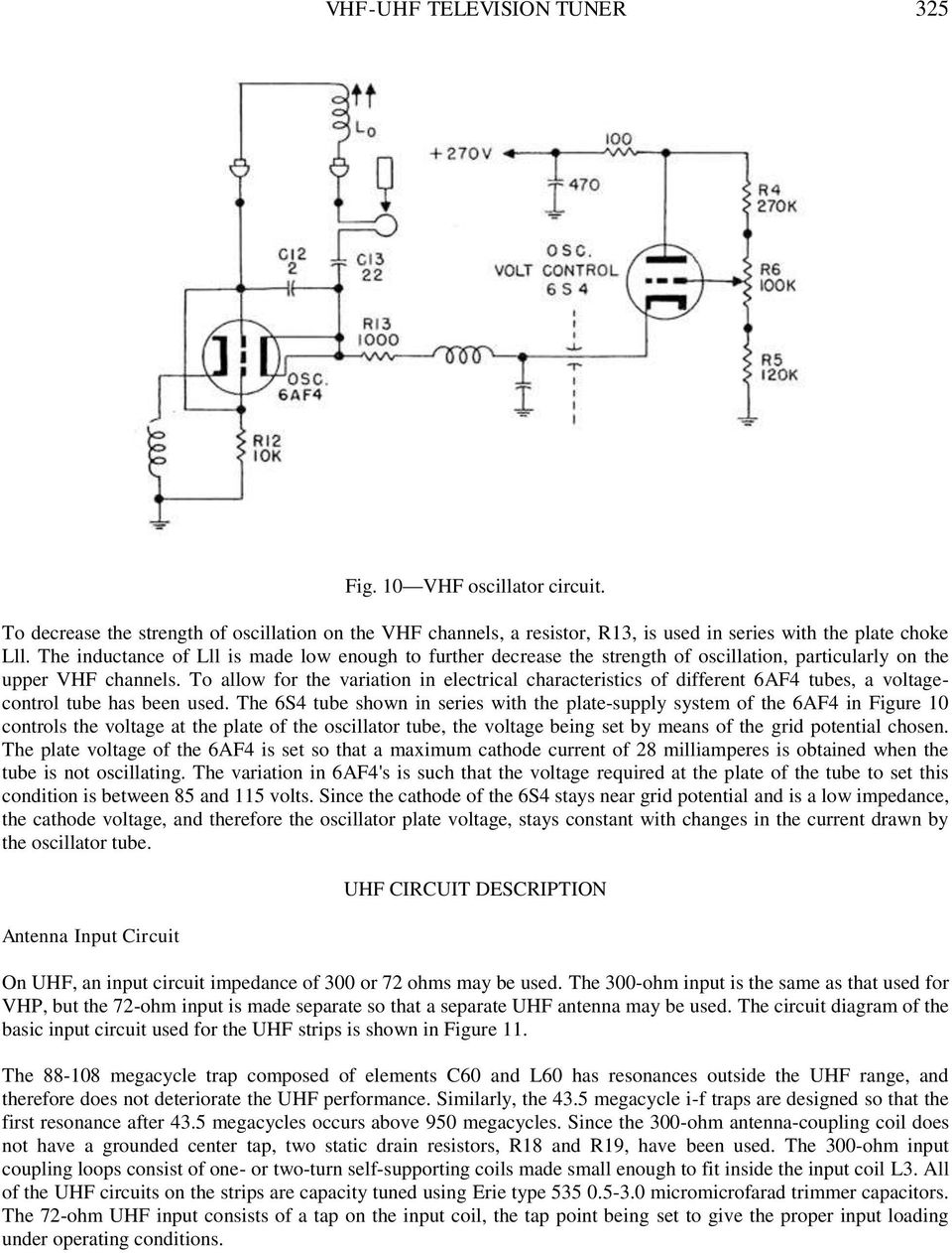 A Vhf Uhf Television Turret Tuner Pdf Antenna Wiring Diagram To Allow For The Variation In Electrical Characteristics Of Different 6af4 Tubes Voltagecontrol Tube
