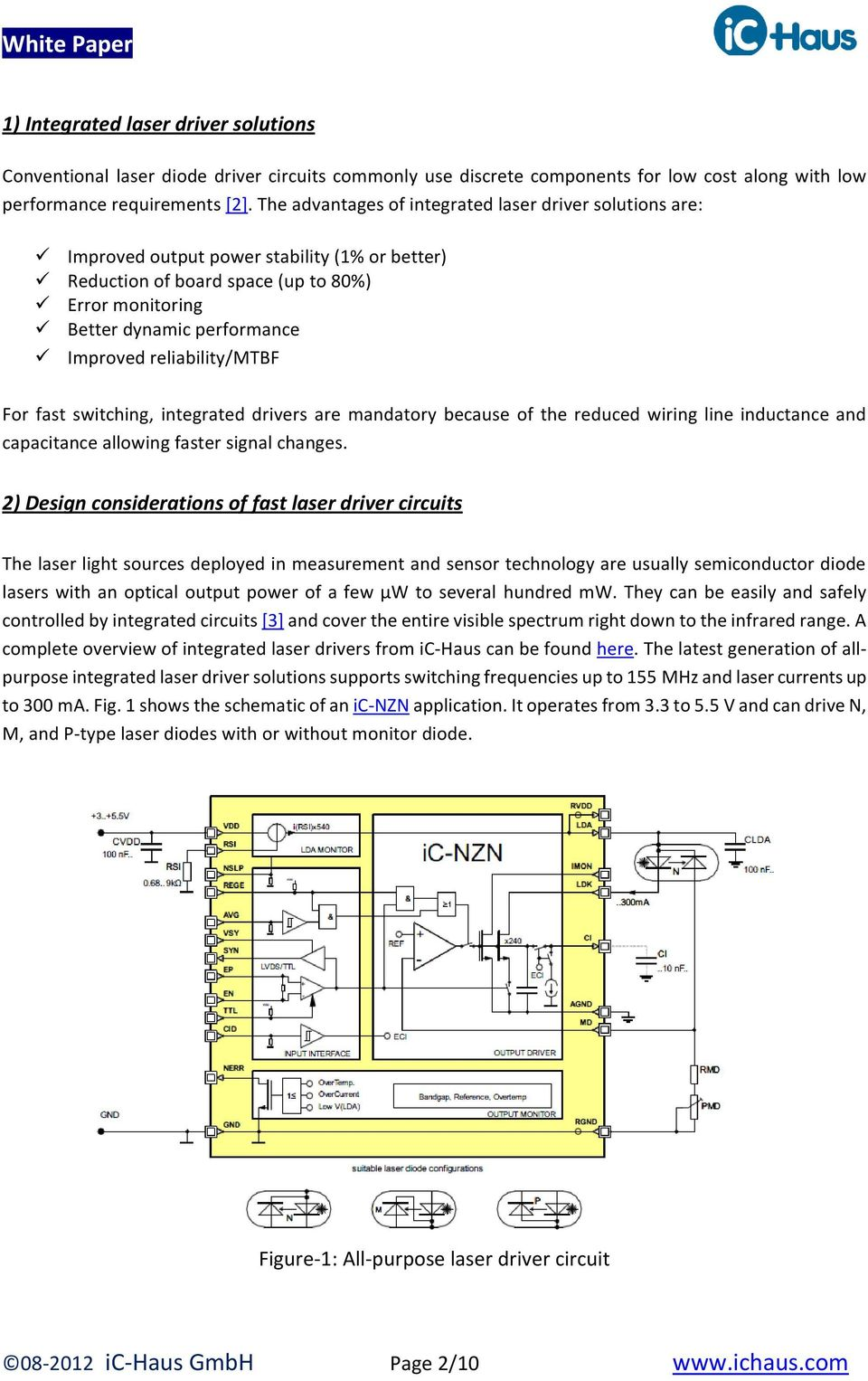 Design And Test Of Fast Laser Driver Circuits Pdf Diode Circuit 1 Reliability Mtbf For Switching Integrated Drivers Are Mandatory Because The Reduced Wiring
