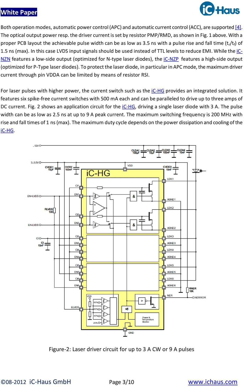 Design And Test Of Fast Laser Driver Circuits Pdf Free Project Circuit Diagram Diode 5 Ns Max In This Case Lvds Input Signals Should Be Used Instead