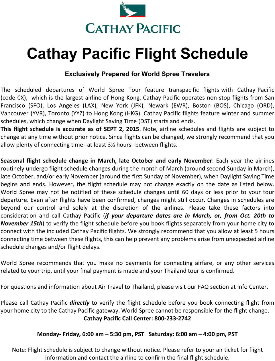 528f1ad2e1d8 Cathay Pacific flights feature winter and summer schedules