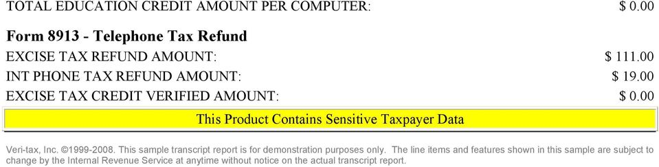 This Product Contains Sensitive Taxpayer Data - PDF