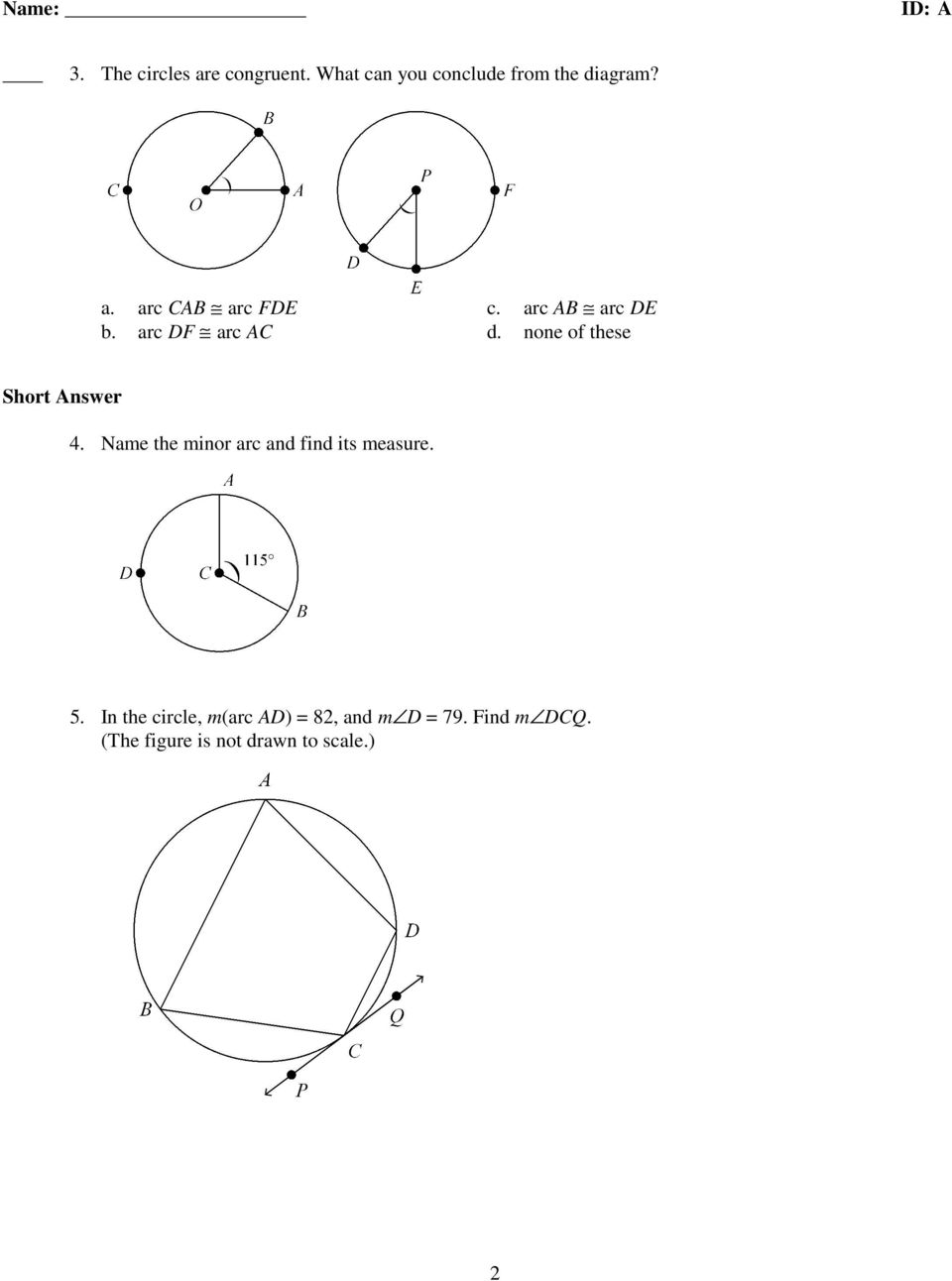 Bestseller: Unit 6 Circles Test Answers