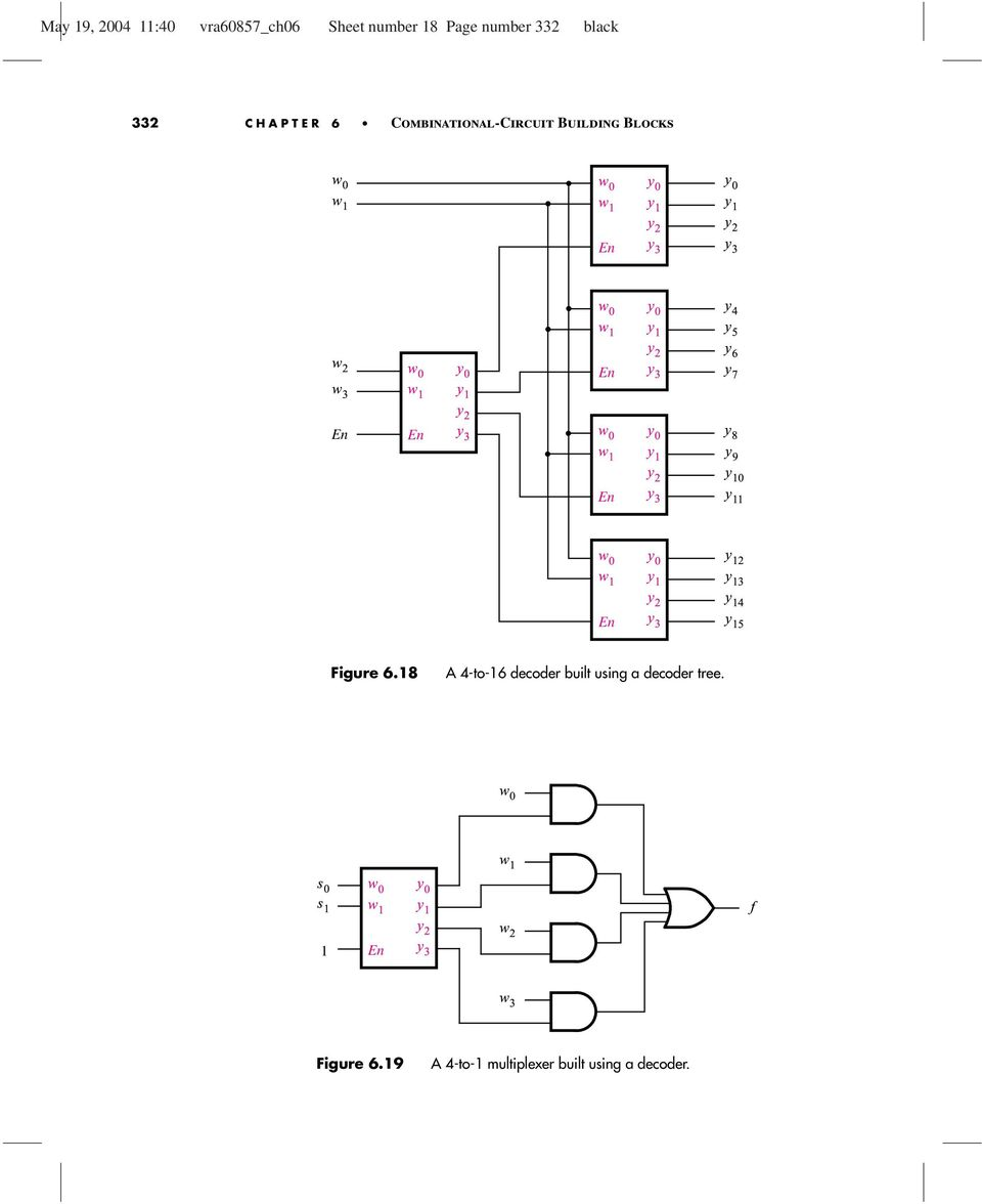 Combinational Circuit Building Blocks Pdf Logic Diagram 2x4 Decoder En Y 3 W 8 9 2