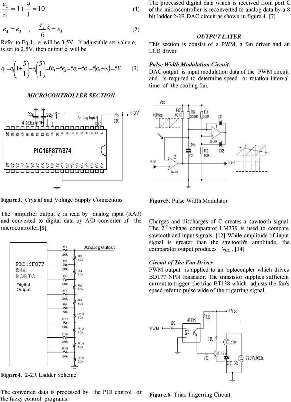 Temperature Control Applications By Means Of A Pic16f877 Switching Power Supply Lm3524 And Lm324 Circuit Wiring Diagrams Is Reconverted To Analog Data 8 Bit Ladder 2 2r Dac As