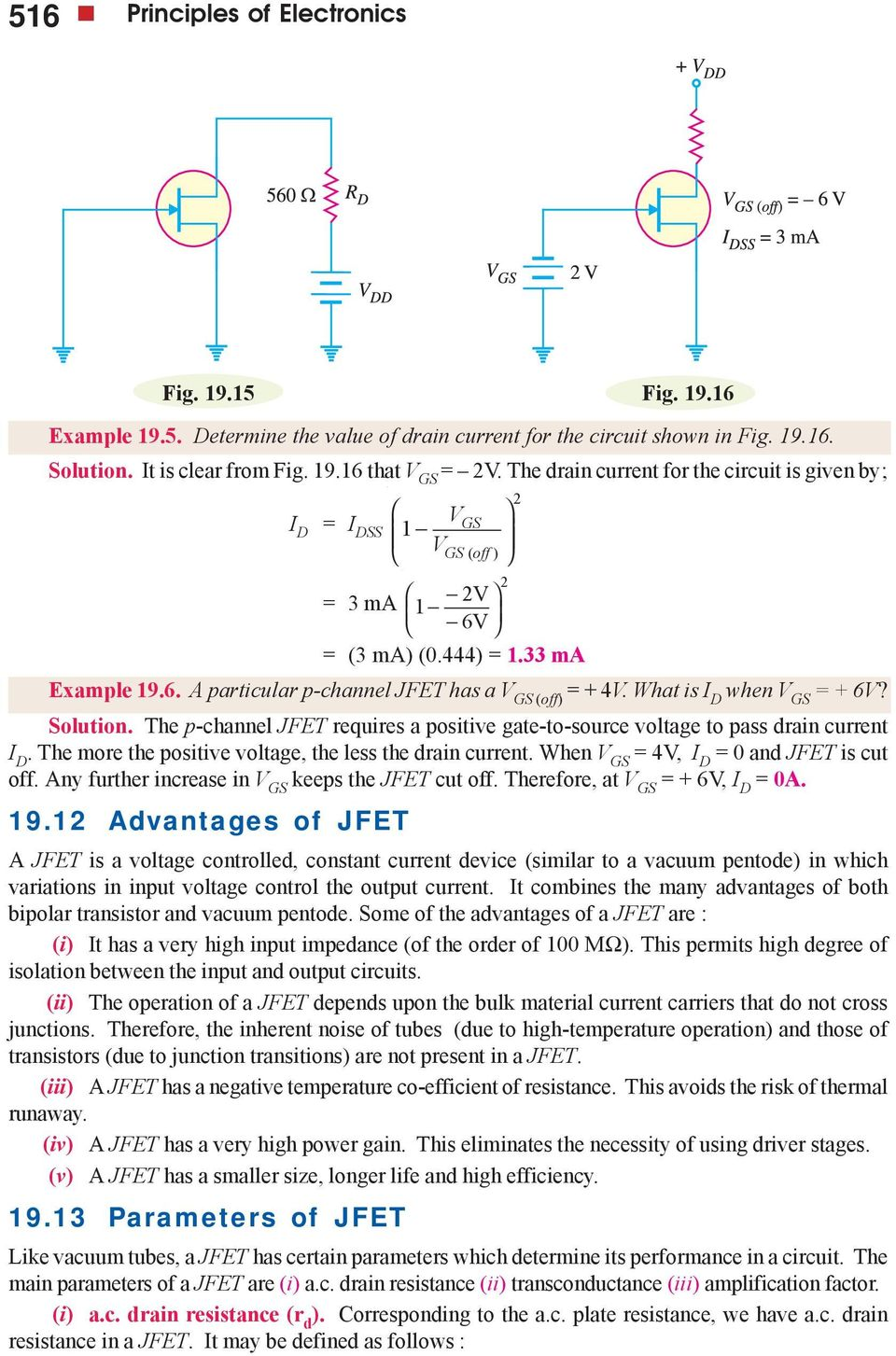 Field Effect Transistors Pdf Mosfet Circuit Http Amplifiercircuitnet 50wattmosfetamplifier Solution The P Channel Jfet Requires A Positive Gate To Source Voltage