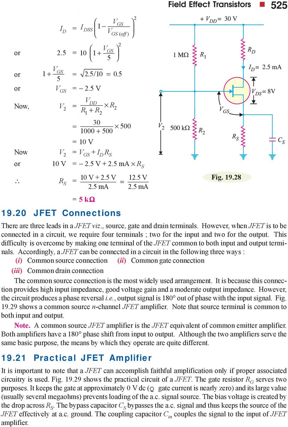 Field Effect Transistors Pdf Common Source Jfet Amplifier Circuit The Output This Difficulty Is Overcome By Making One Terminal Of To Both