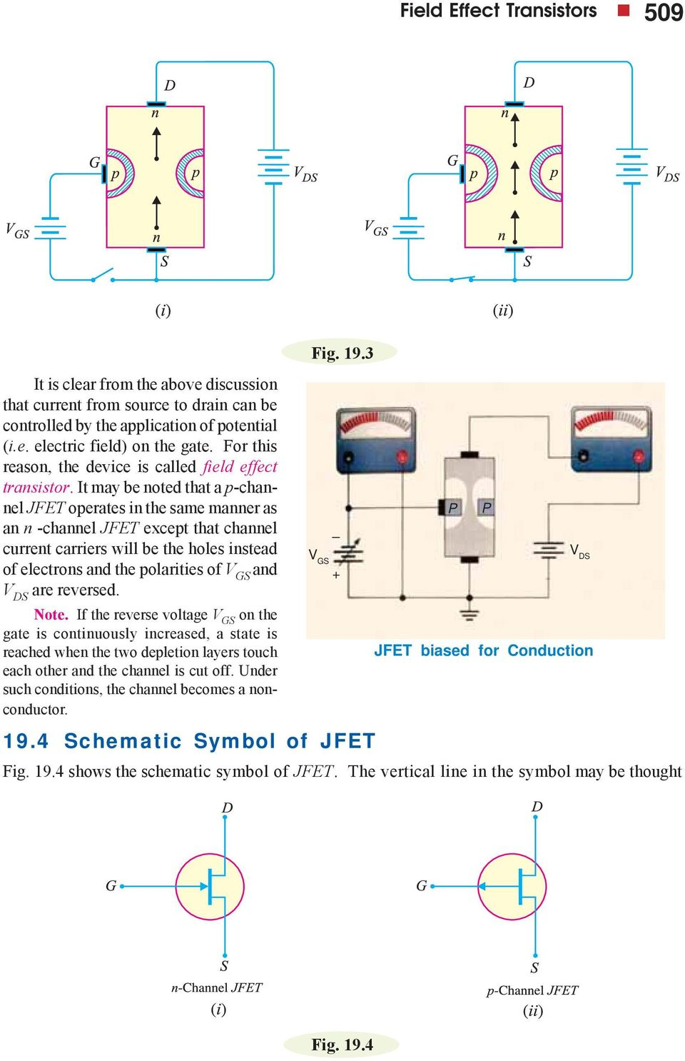 Field Effect Transistors Pdf Regulator With A Transistor Power Supply Circuits Electrons And The Polarities Of Ds Are Reversed Note If Reverse Voltage On