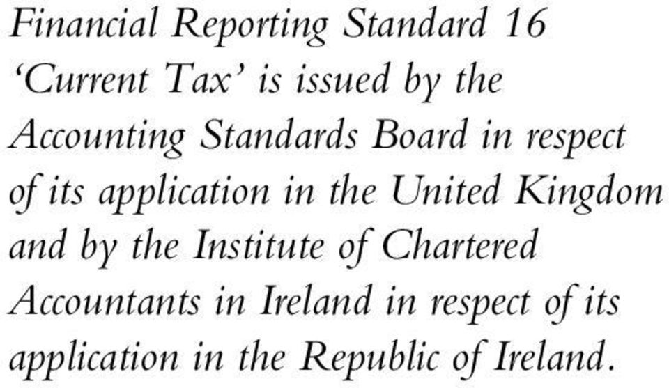 United Kingdom and by the Institute of Chartered Accountants in