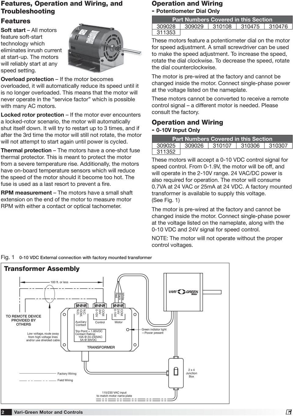 Installation Operation And Maintenance Manual Pdf 0 10vdc Ecm Motor Wiring Diagram This Means That The Will Never Operate In Service Factor Which Is Possible With