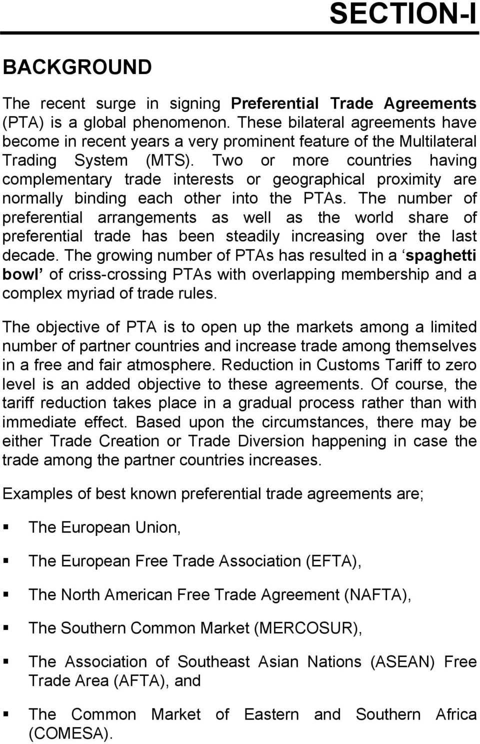 Study On Benefits Of Preferential Trade Agreements Pdf