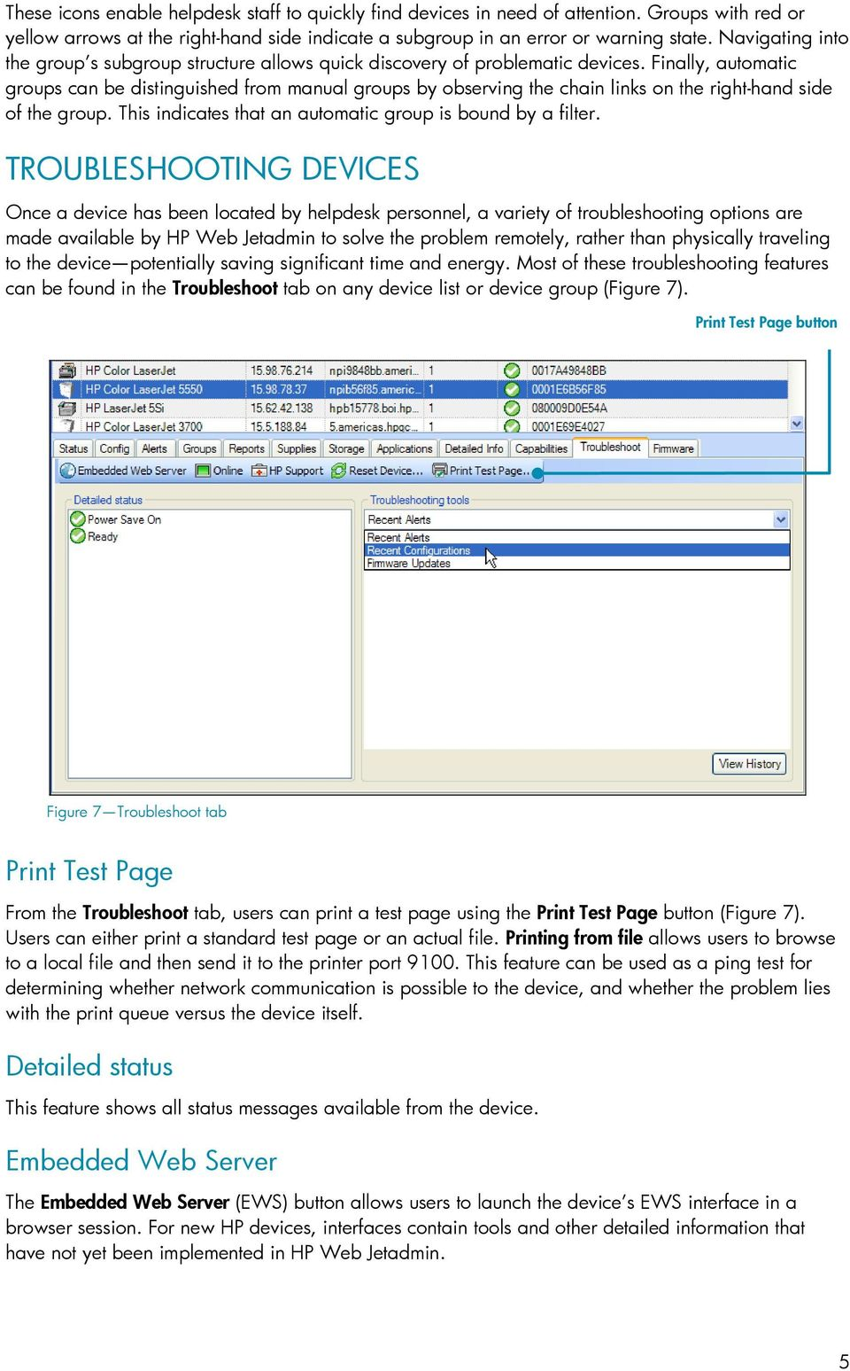RUNNING A HELPDESK CONTENTS  using HP Web Jetadmin - PDF
