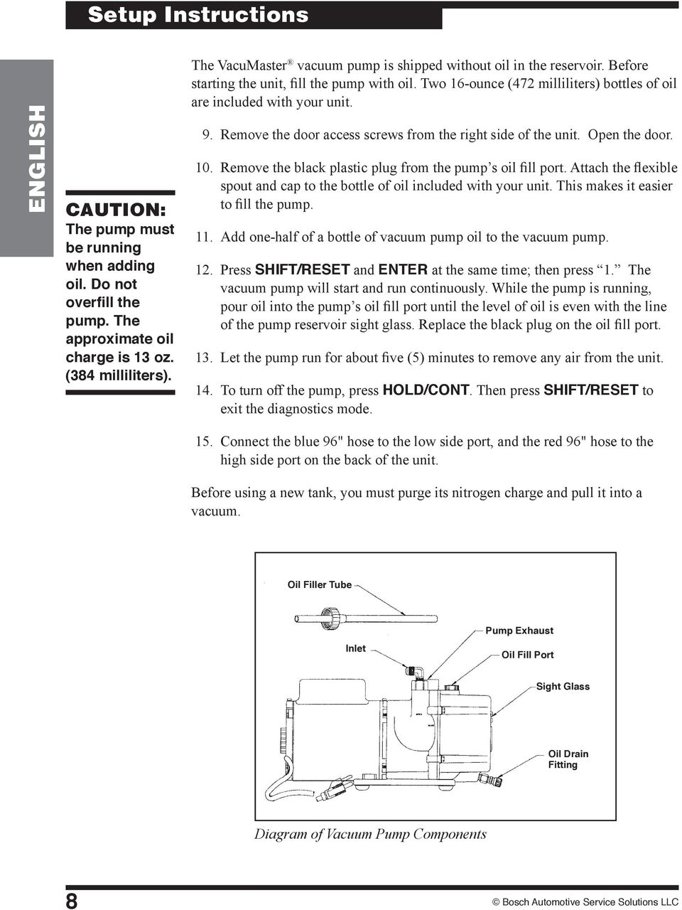 Recovery Recycling Recharging Unit Pdf Yellow Jacket Vacuum Pump Wiring Diagram Remove The Door Access Screws From Right Side Of Open