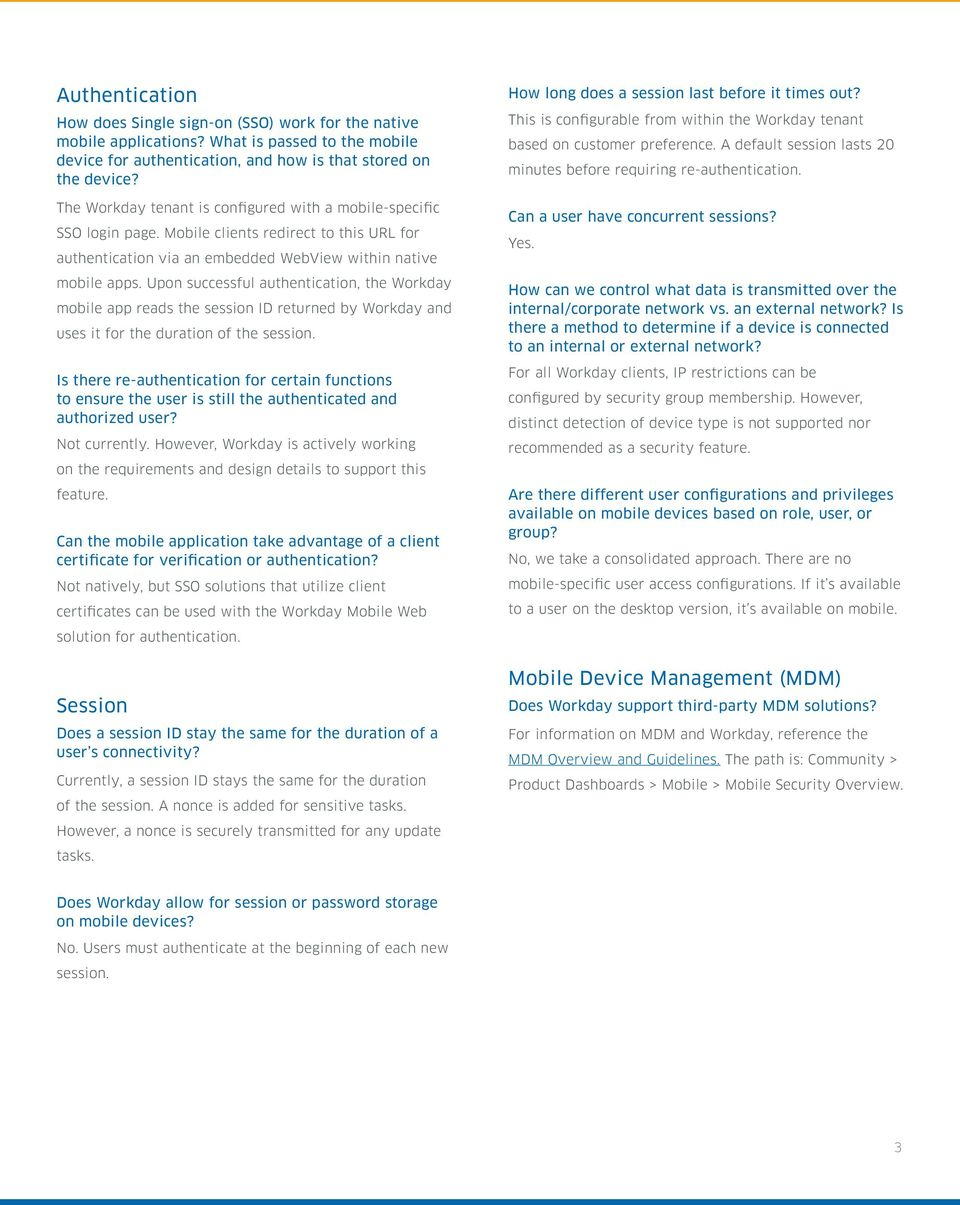 Workday Mobile Security FAQ - PDF