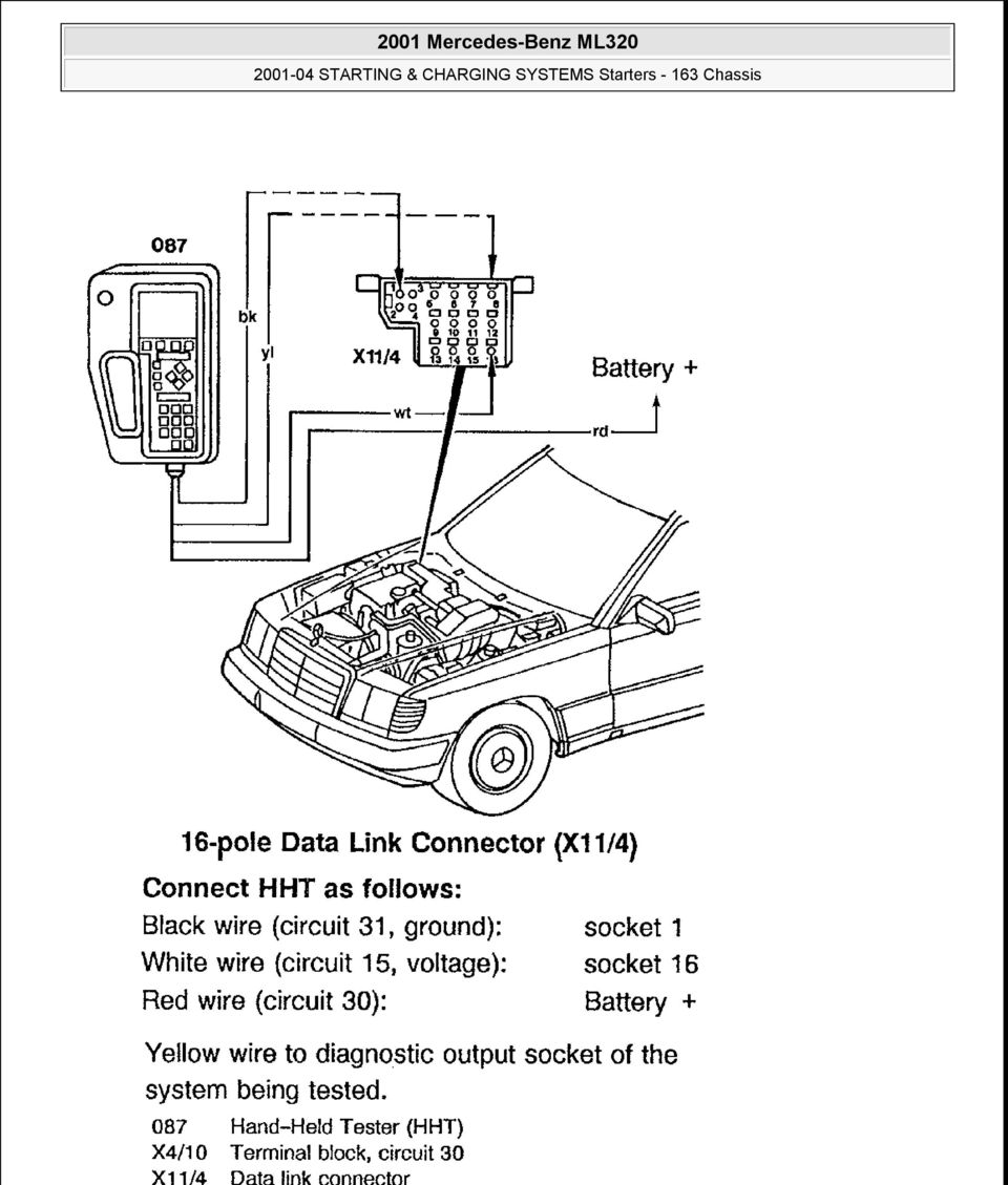 2001 Mercedes-Benz ML320 - PDF on auto charging system diagram, small engine electrical diagram, 98 nissan altima charging system diagram, loop diagram, motorcycle charging system diagram, charging system on 1994 ford f-350, carbohydrate metabolism diagram, karcher pressure washer parts diagram, alternator charging diagram, 1978 ford charging system diagram, charging system alternator, briggs charging system diagram, volkswagen charging system diagram, motorhome charging system diagram, boat bonding system diagram, charging system troubleshooting, dual battery charging system diagram, light bulb circuit diagram, 12 volt charging system diagram, automobile brake system diagram,