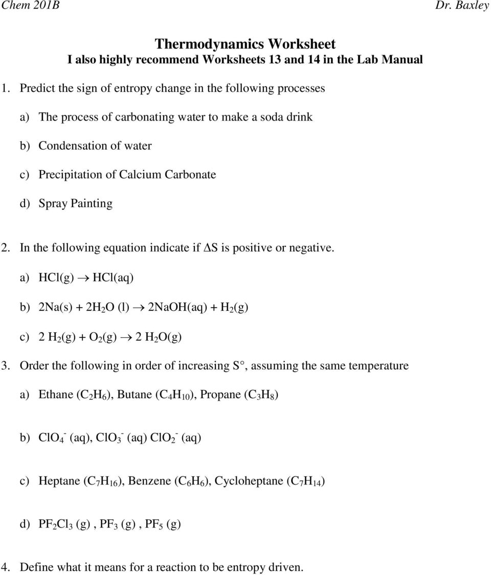 Worksheets Thermodynamics Worksheet thermodynamics worksheet i also highly recommend worksheets 13 and 2 in the following equation indicate if s is positive or negative a
