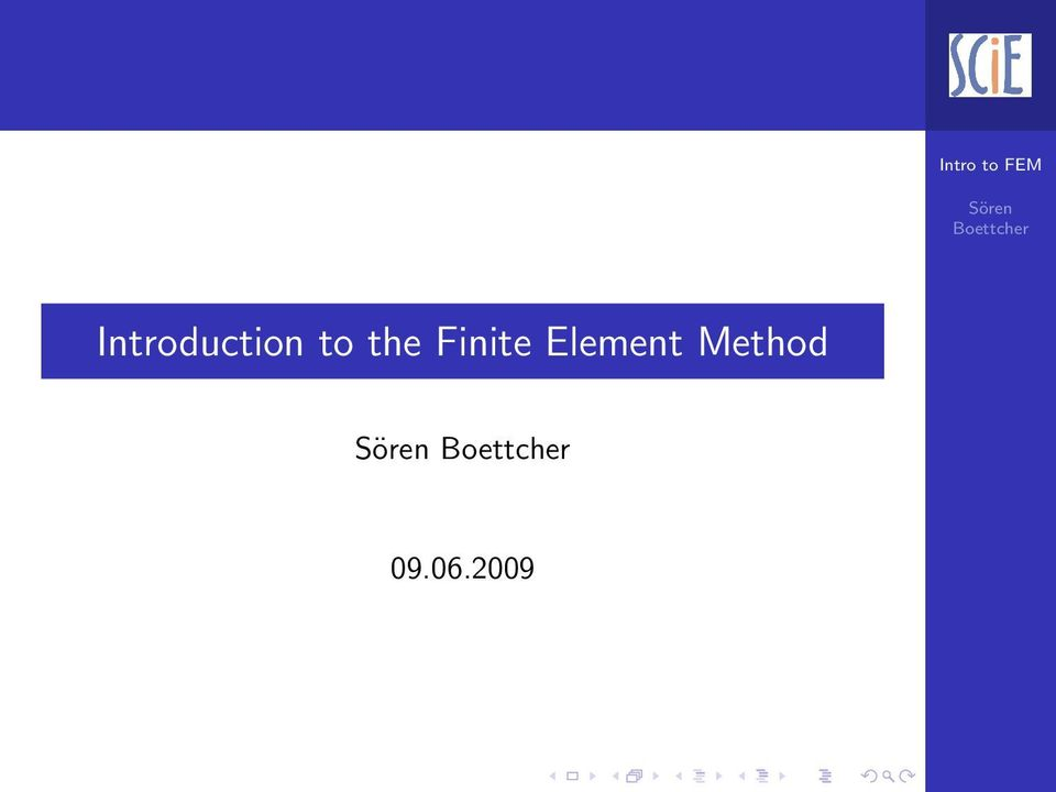 Introduction to the Finite Element Method - PDF