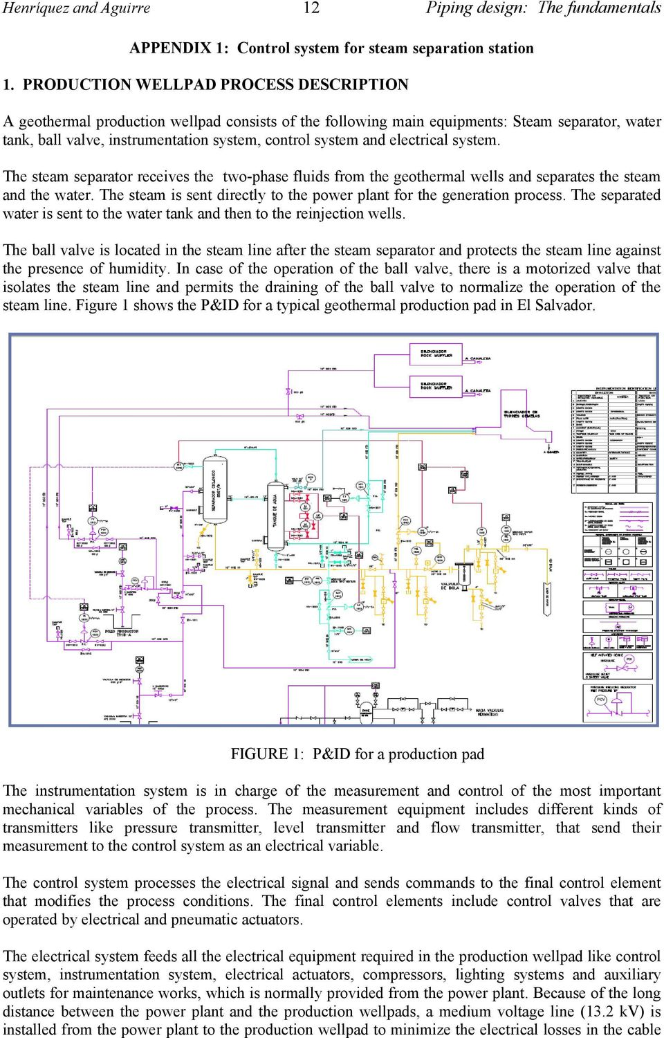 Piping Design The Fundamentals Pdf Layout Course Electrical System Steam Separator Receives Two Phase Fluids From Geothermal Wells