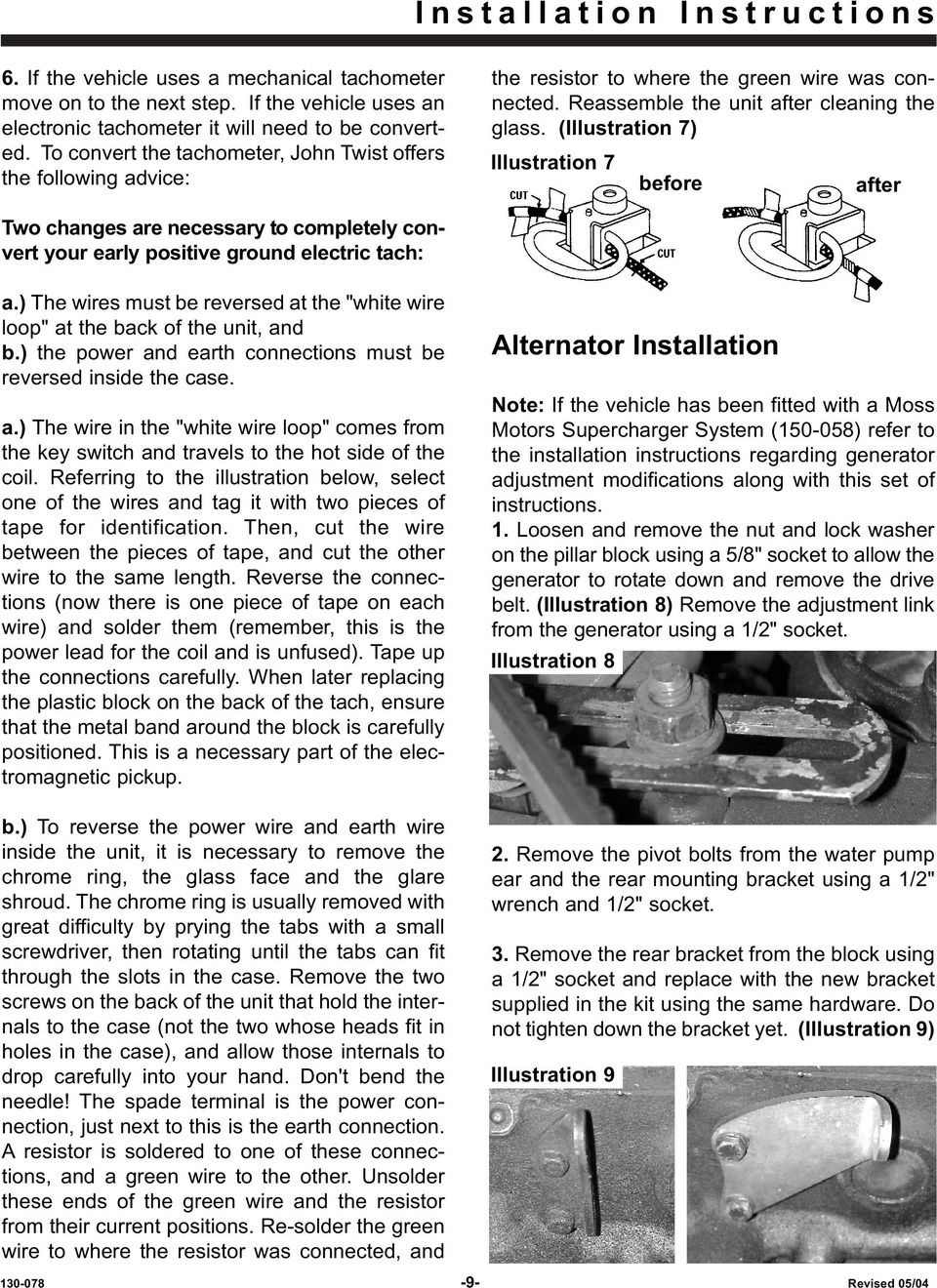 Mga Alternator Conversion Pdf Wiring Harness Front Mk 3 Mini Cooper With Illustration 7 Before After Two Changes Are Necessary To Completely Convert Your