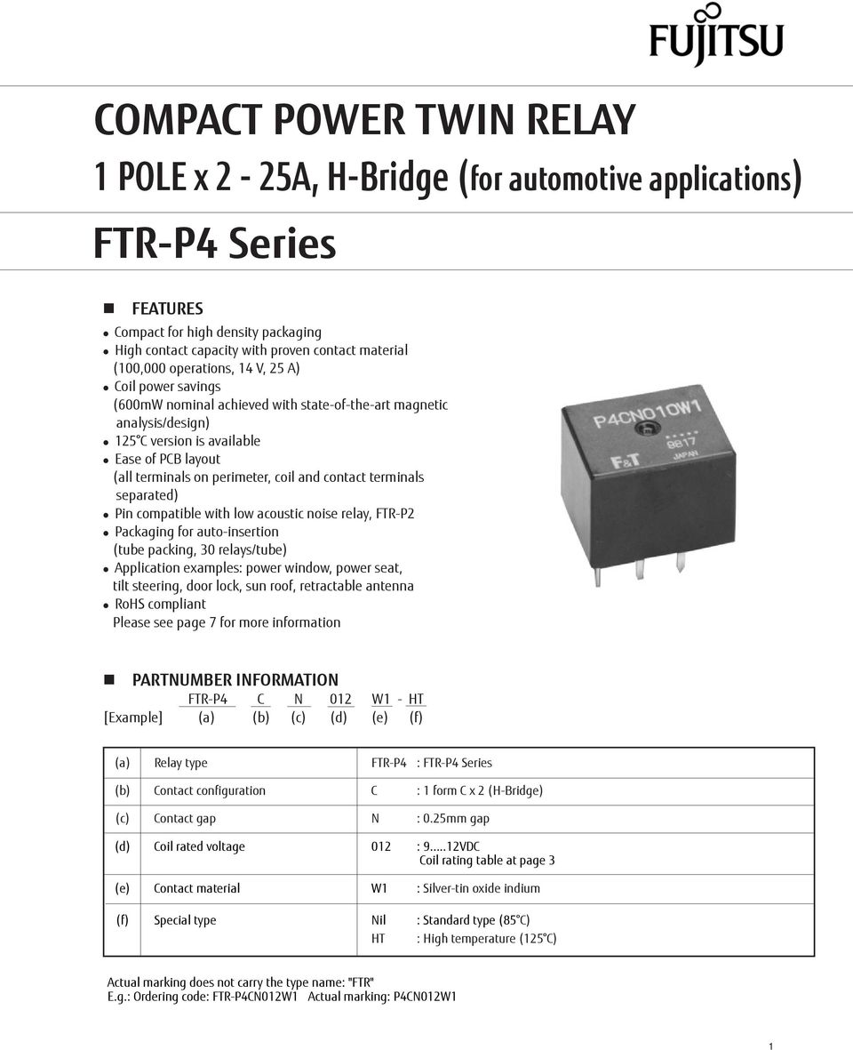 Compact Power Twin Relay Pdf Rating Perimeter Coil And Contact Terminals Separated Pin Compatible With Low Acoustic Noise