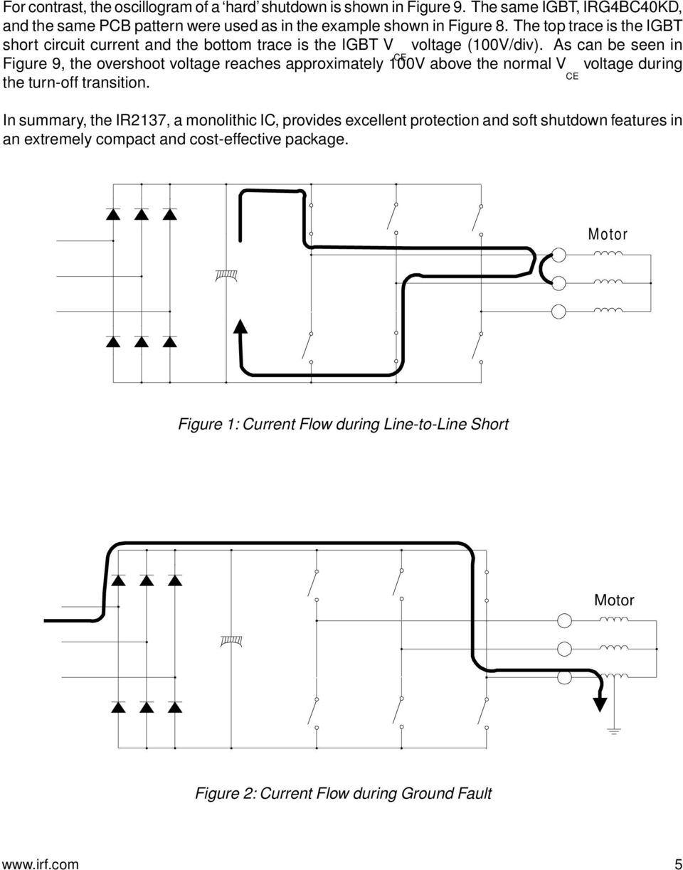 Igbt Protection In Ac Or Bldc Motor Drives By Toshio Takahashi Pdf Figure 3 Simple Inverter Circuit Using As Can Be Seen Ce 9 The Overshoot Voltage Reaches Approximately 100v Above