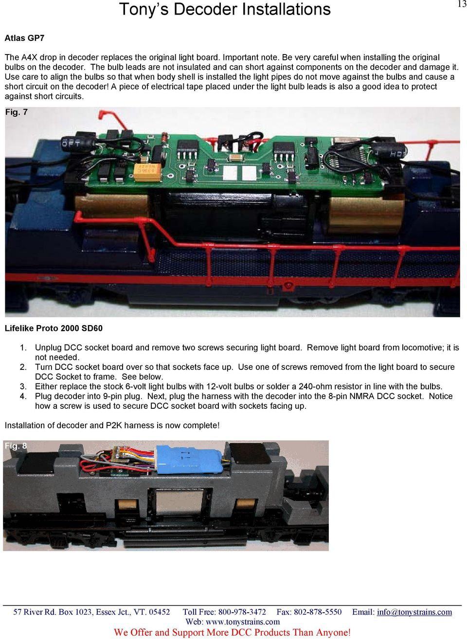 DCC Decoder and Sound Installations - PDF on
