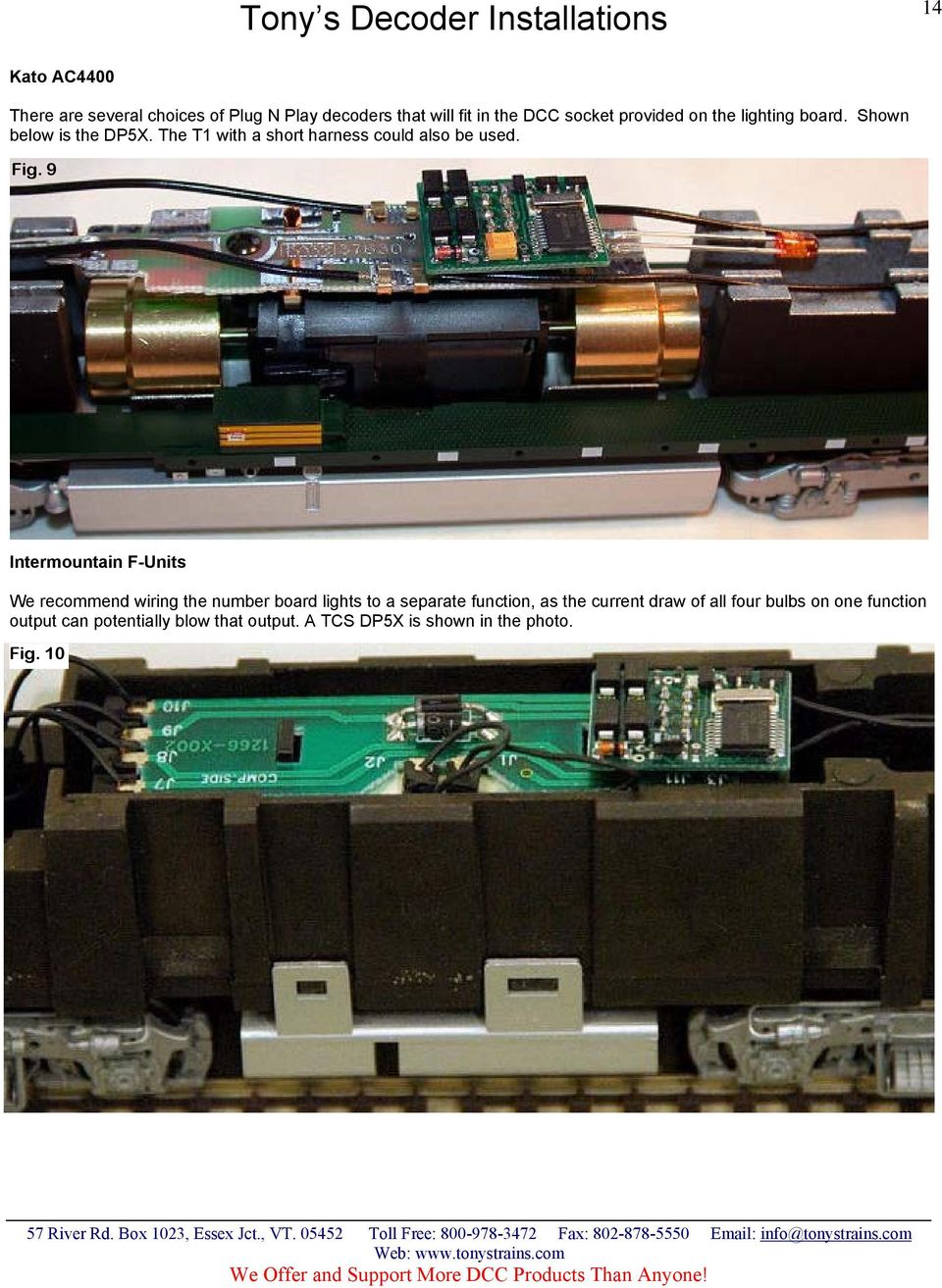 Dcc Decoder And Sound Installations Pdf Further Model Train Reverse Loop Wiring Harness 9 Intermountain F Units We Recommend The Number Board Lights To A Separate Function