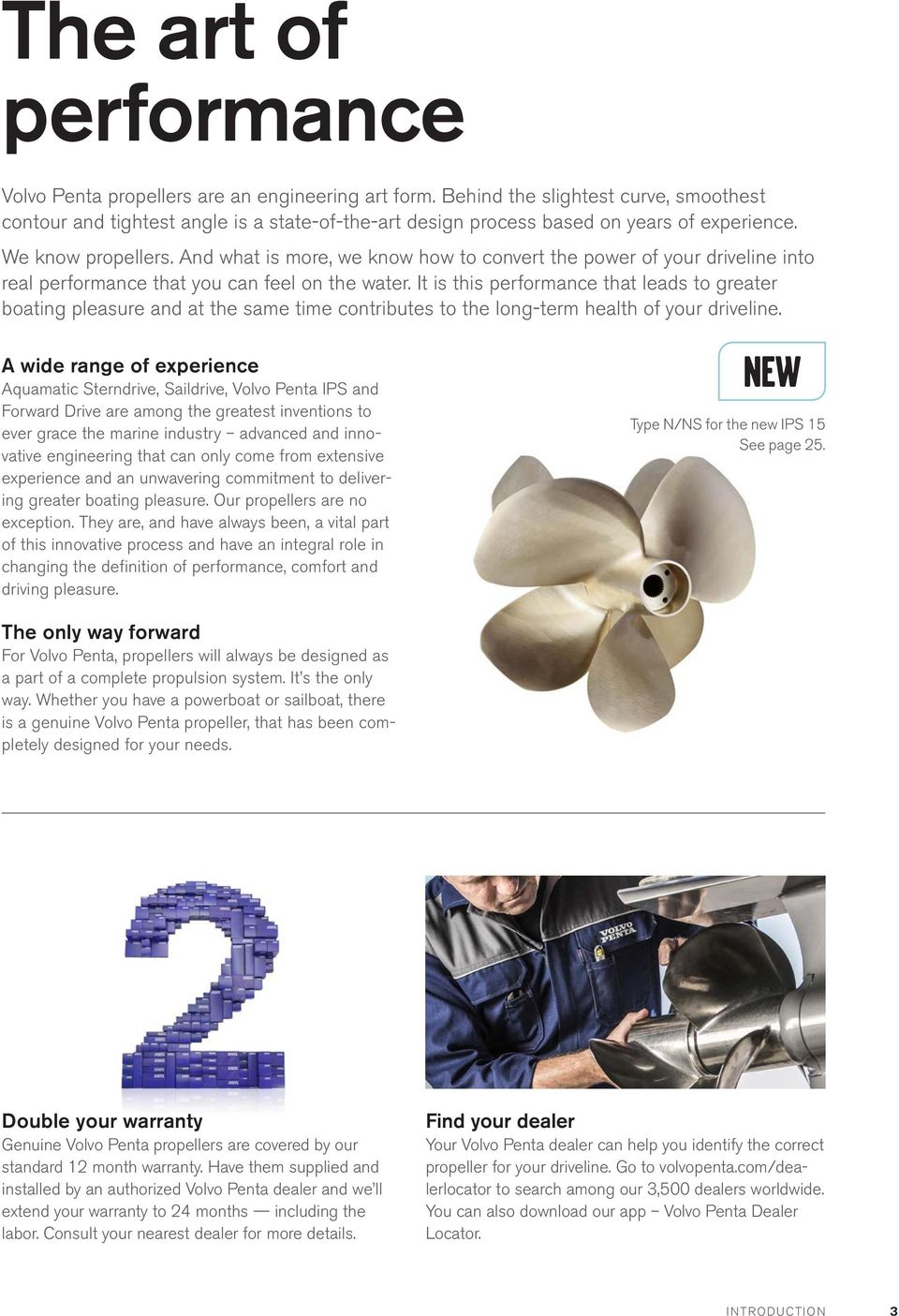 genuine volvo penta propellers features benefits and